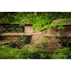 Marmont Hill Cedar Mill and Covered Bridge Photographic Print on Wrapped Canvas