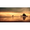 Marmont Hill Haystack Sunset Photographic Print on Wrapped Canvas