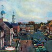 Marmont Hill Delaware Street Graphic Art on Wrapped Canvas
