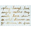 Marmont Hill Words to Live By Graphic Art on Wrapped Canvas