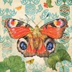 Marmont Hill European Peacock Butterfly by Evelia Graphic Art on Wrapped Canvas