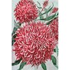 Marmont Hill Wool Flowers Painting Print on Wrapped Canvas