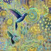 Marmont Hill Hummingbird Graphic Art on Wrapped Canvas