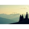 Marmont Hill What a Wonderful World by Robert Dickinson Graphic Art on Wrapped Canvas