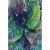 Marmont Hill Leaf Reflection 4 by Irena Orlov Painting Print on Wrapped Canvas