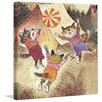 Marmont Hill Playing Cats by Curtis Painting Print on Wrapped Canvas