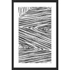 Marmont Hill Linear Maelstrom Framed Graphic Art