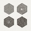 Marmont Hill Hexagons Graphic Art on Wrapped Canvas