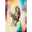 Marmont Hill Horseplay Graphic Art on Wrapped Canvas