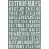 Marmont Hill Cottage Rules Textual Art