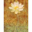 Marmont Hill White Lotus Painting Print on Wrapped Canvas