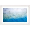 Marmont Hill Blue Liquid Framed Painting Print