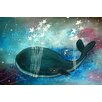 Marmont Hill Star Stringed Whale Graphic Art on Wrapped Canvas
