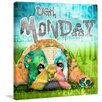 Marmont Hill 'Monday Dog' by Connie Haley Graphic Art on Wrapped Canvas