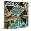 Marmont Hill Teal Triangles Painting Print