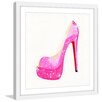 """Marmont Hill """"NS Pink Shoe"""" by Molly Rosner Framed Painting Print"""