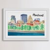"""Marmont Hill """"Old Montreal"""" by Molly Rosner Framed Painting Print"""