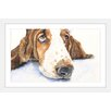 Marmont Hill 'Basset 4' by George Dyachenko Framed Painting Print