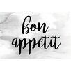 Marmont Hill 'Bon Appetit' by Diana Alcala Textual Art on Wrapped Canvas