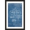Marmont Hill 'Bicycle 1891 Blueprint' by Steve King Framed Graphic Art