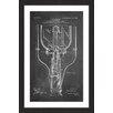 """Marmont Hill """"Street Light 1904 Chalk"""" by Steve King Framed Graphic Art"""