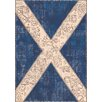 Trinity Creations Flags Blue / Beige Area Rug