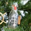Handcrafted Nautical Decor USS Constitution Ship in a Glass Bottle Christmas Tree Ornament