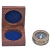Handcrafted Nautical Decor Antique Paperweight Compass Sculpture