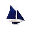 Handcrafted Nautical Decor America's Cup Contender Model Boat