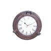 """Handcrafted Nautical Decor Deluxe Class 12"""" Porthole Clock"""