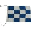 Handcrafted Nautical Decor Letter N Cloth Nautical Alphabet Flag Wall Décor