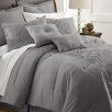 Colonial Textiles Savannah 8 Piece Embellished Comforter Set in Gray