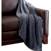 Colonial Textiles Heathered Solid Fleece Throw Blanket