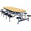 Palmer Hamilton Rectangular Round Cafeteria Table