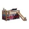 Vipack Spielbett Pino mit Rutsche und Textilvorhang, 90 x 200 cm