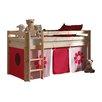 Vipack Spielbett Pino mit Textilvorhang, 90 x 200 cm