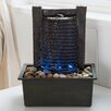 Resin/Acrylic Waterfall Tabletop Fountain - Pure Garden Indoor and Outdoor Fountains