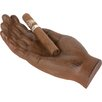Blue Ridge Fitness Novelty Metal Hand Shaped Cigar Holder and Ash Tray
