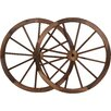 Decorative Vintage Wood Garden Wagon Wheel Wall Decor - Size: 30 inch - Trademark Innovations Garden Statues and Outdoor Accents
