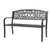 "Trademark Innovations ""Welcome"" Steel Garden Bench"