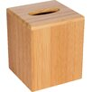 Trademark Innovations Bamboo Square Boutique Tissue Box Cover