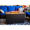 Firetainment Malibu Metal/Quartz Gas Table Top Fireplace