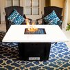 Firetainment South Beach Metal/Quartz Gas Table Top Fireplace