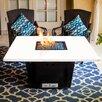 Firetainment South Beach Metal/Quartz Gas Table Top Fireplace