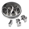Cake Boss 9-Piece Stainless Steel Number Fondant and Cookie Cutter Set