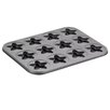 Cake Boss Novelty 12 Non- Stick Cup Star Molded Cookie Pan