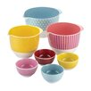 Cake Boss Countertop Accessories 7 Piece Melamine Mixing & Prep Bowl Set