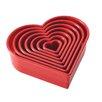Cake Boss 7 Piece Heart Fondant and Cookie Cutter Set