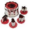 Cake Boss 6 Piece Holiday Linzer Cookie Cutter Set