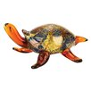 Badash Crystal Firestorm Art Glass Turtle Sculpture